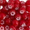 Seedbead Cornelian White Star 32/0 Red
